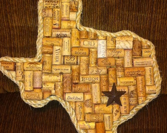 Texas (or any State) Wine Cork Art