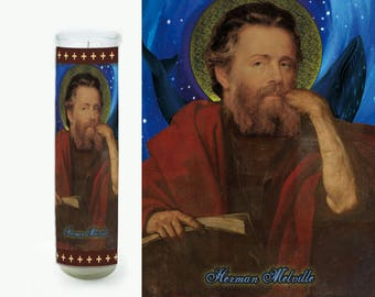 Herman Melville Prayer Candle - Herman Melville Saint Candle - Herman Melville Fan Art - Literary Gift