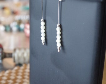 Mother of Pearl Sterling Silver French Hook Dangle Earrings