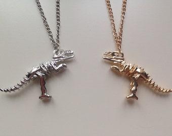 Dinosaur | T-Rex | Jurassic World | Jurassic Park | Fossil | Skeleton | Necklace