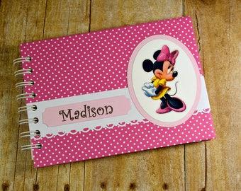 "Personalized MINNIE MOUSE Autograph Book and Photo Album - 5""x7"" ~ Disney Autograph Book ~ Disney Journal / Scrapbook"