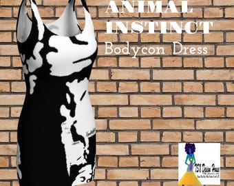 Animal Instinct Bodycon Dress