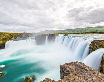 Printed photograph of the beautiful Godafoss waterfall in Iceland!