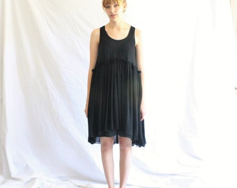 black minimalist lbd dress   chiffon little black dress