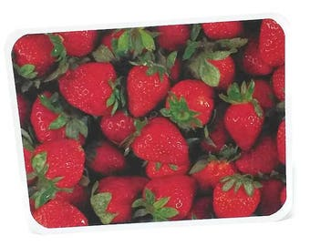 6 Strawberry Cards- Fruit Cards