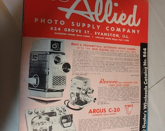1958 ALLIED photo supply co.wholesale  catalog- Evanston, Il