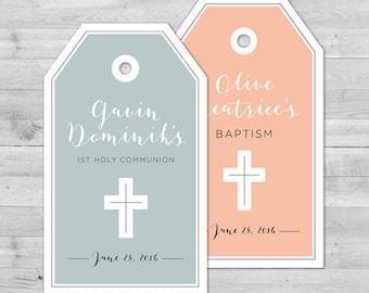 Communion Favor Tags Baptism Favor Tags Christening Favor Tags Baptism Thank You Tags First Holy Communion Favor Tags Christening Favor Tags