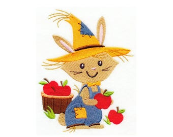Rabbit Scarecrow - I Will Machine Embroider This Design Onto Your Custom Item