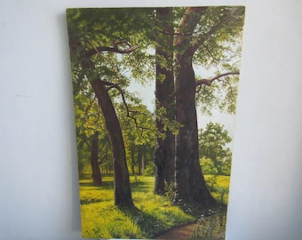 Landscape Trees Oil  Painting Nature Oil  Painting