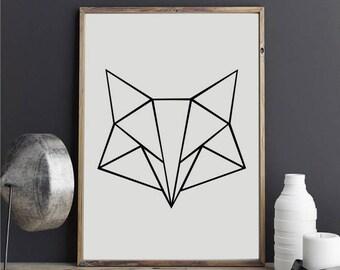 """Geometric Fox 2"" stickers"