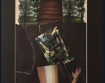 "Artwork ""The broken path"" Postcard"
