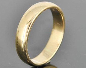 14K Yellow Gold Ring, 3mm x 1.5mm, Wedding Band, Wedding Ring, Yellow Gold Band, Half Round Band, Size up to 12
