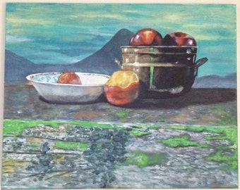 Original painting, acrylic painting, 60x75cm stretched canvas