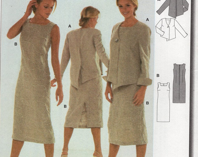 FREE US SHIP Burda 8511 Reverse Back Button Jacket Dress Overblouse  Size 6-16 6 8 10 12 14 16 Bust 30 31 32 34 36 38 New  Sewing Pattern