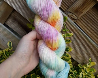 Hand dyed yarn- Blossom - choose dk or sock