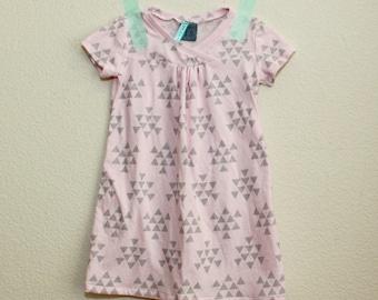 Pink & Gray Knit Hopscotch Dress