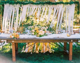 Wedding Backdrop Rustic Wedding Decor Photo Booth Backdrop Boho Wedding Macrame