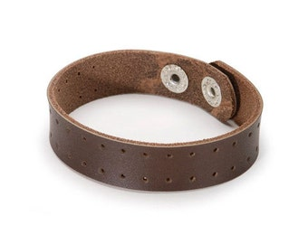 Leather Bracelet - Brown