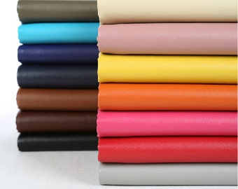 Colorful Faux Leather, PU Leather Fabric, Soft Matte Imitation Leather- -for Clothing,Bag,Shoes DIY--1/2 yard