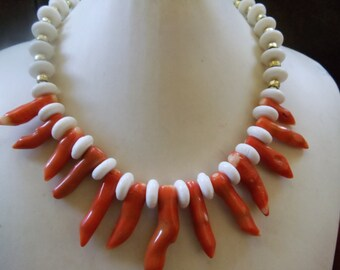 Extravagant coral necklace statement jewelry