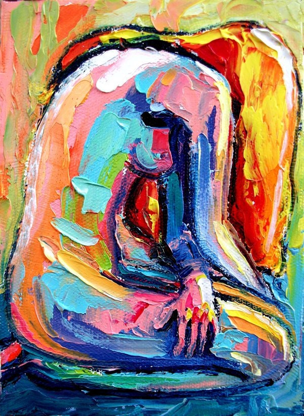 Femme 113 18x24 abstract nude print reproduction by Aja ebsq