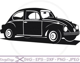 VW car Vector files SVG File for cricut, SVG files old car, Instant download, vector file, eps, jpg, png, vinyl, dxf files, clipart car