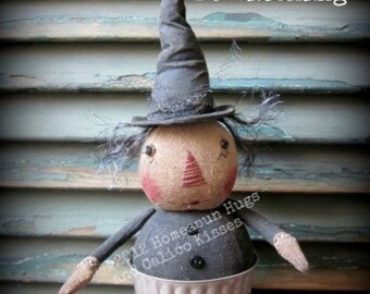 "Primitive witch doll PATTERN  ""Be Witching"""