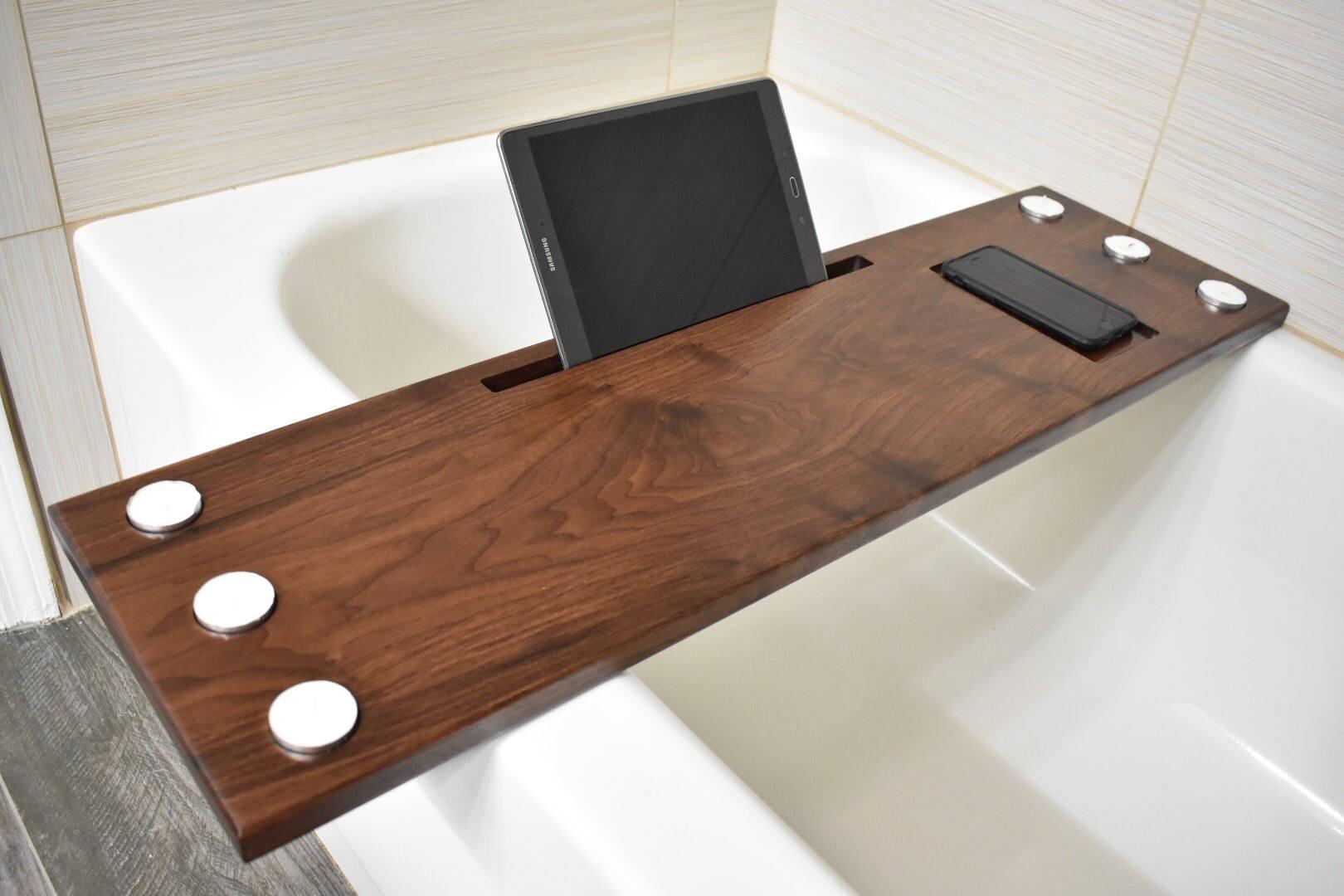Walnut Bath Tub Caddy bath tray wood bathtub caddy wood