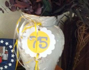75th Birthday Decorations Centerpiece Wrap arounds