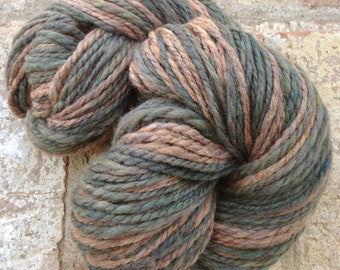 Arthur Dent - 13% off - OOAK handspun Moorit Merino 2 ply yarn 166 yards 113g/4 oz.