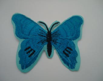 patch Thermo - Butterfly - TURQUOISE blue