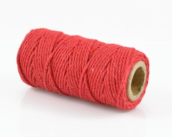 RED BAKERS TWINE - Red Twisted Cotton String / Bakers Twine (20 meter spool)