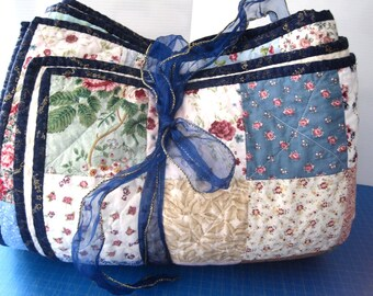 Custom Handmade Traditional Patchwork Quilt. King Size Quilt. Queen Size Quilt. Romantic Shabby chic, cottage decor