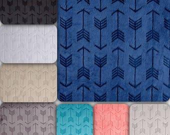 Minky Arrow Crib Sheet or Changing Pad Cover - Embossed Arrow Crib Sheet - Minky Crib Bedding - Minky Nursery Bedding