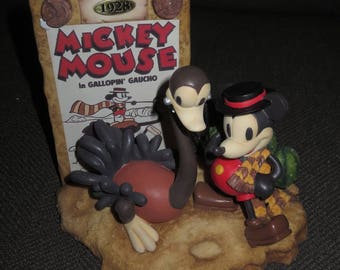 Vintage Mickey Mouse Gallopin' Gaucho 1928 Collectible, New in Box , Limited Edition, Best of Mickey , Enesco