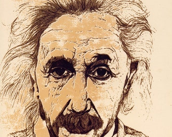 Albert Einstein Canvas Giclee Print