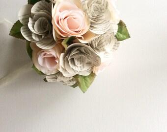 Book Bouquet, Harry Potter Bouquet, Book Flowers, Paper Roses (ITEM: TPG55D)