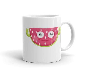 Cray Cray Watermelon Mug, Fruit Mug, Food Mug, Cartoon Mug.