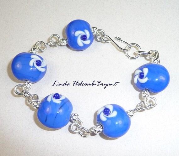 Bracelet Blues - Lampwork Beads