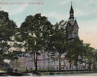 Central High School Cleveland, Ohio c.1908 Vintage Postcard