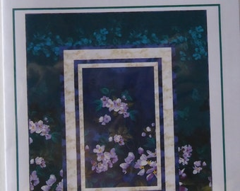 Pattern,Evening Garden~Using Mystic Garden Northcott Fabric Fast Shipping, PT359