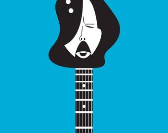 Eric guitar head digital art print