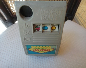 Metal Jackpot bank Welcome to Fabulous Las Vegas JACKPOT BANK Vintage Sparks Nevada