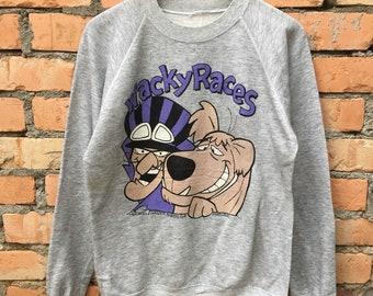 Vintage Wackey Racer Sweatshirt Cartoon Medium Size