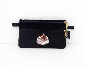Rag Doll Cat  2 Compartment Pouch
