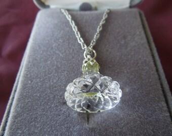Jonal Jewelry, Crystal Kiss Shaped Crystal on 24 Inch Chain
