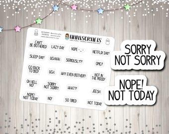 Bad Planner bad mood card etsy