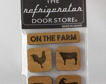 Refrigerator Magnet. Fridge Magnets. Kitchen Magnets. Kitchen Decor. Magnets. On The Farm.
