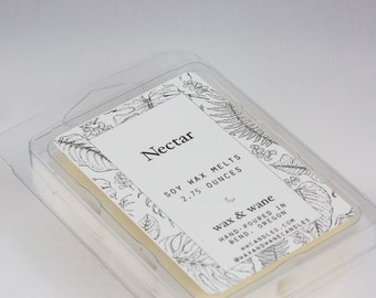 Nectar Agave Scented Soy Wax Tart - Wax Melts -  Naturally Scented Wax Cubes - Soy Candle Melts - Natural Soy Wax Tarts - Succulent Candle