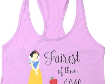 "Disney Shirt for Women, Snow White ""Fairest of them All"" Ladies Tank Top"